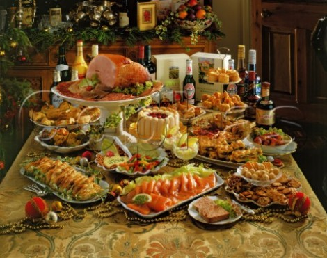 1129852_Christmas_Buffet_Smoked_salmon_Ham_Mini_quiches___Sausage_rolls_Pizza_Mincemeat_Lattice__nibbles_etc